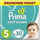 Prima Bebek Bezi Aktif Bebek 5 Beden Junior Ekonomik Paket, 30 Adet
