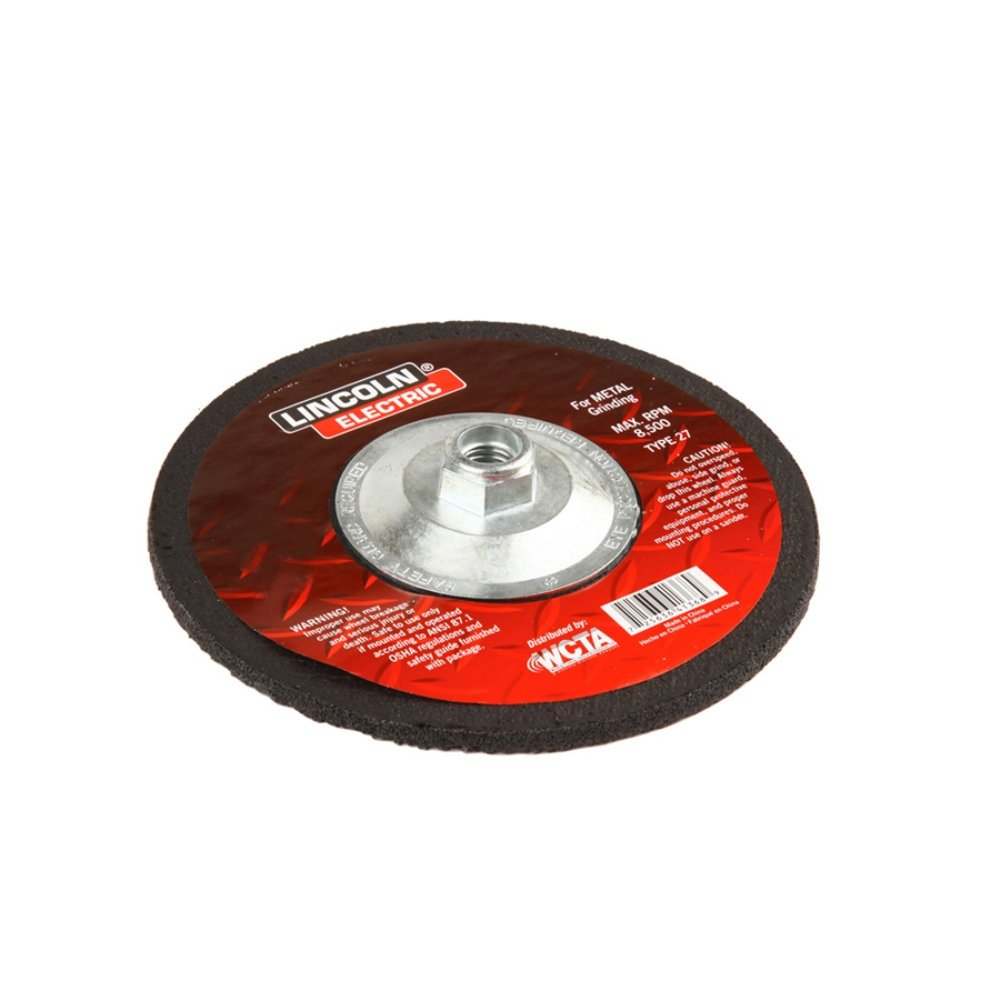 Lincoln Electric KH252 Depressed Center Grinding Wheel, Aluminum Oxide, 13300 rpm, 4-1/2' Diameter x 1/4' Thick, 5/8' x 11 UNC Arbor (Pack of 3) 4-1/2 Diameter x 1/4 Thick 5/8 x 11 UNC Arbor (Pack of 3) The Lincoln Electric Company