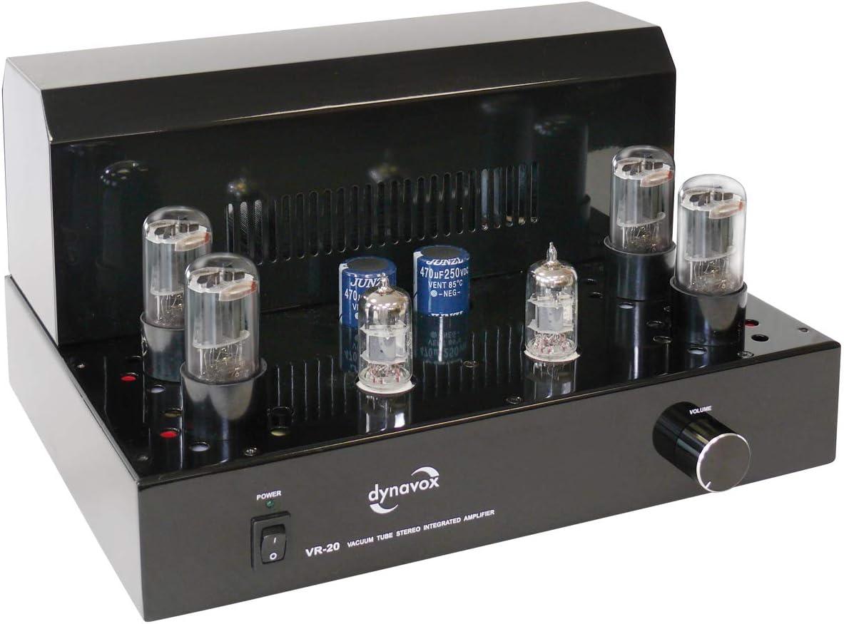 Dynavox VR-20 - Amplificador valvular integrado, color negro (importado)