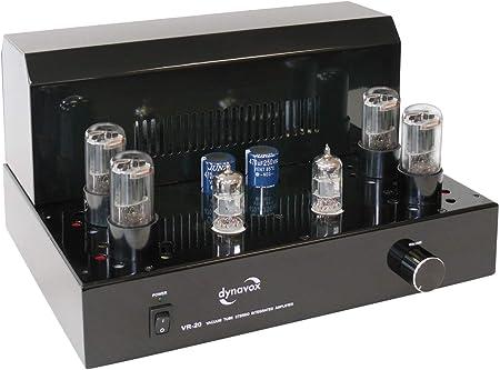 Dynavox Röhrenvollverstärker Vr 20 Schwarz Hifi Verstärker Für Warmen Röhren Sound Vintage Design Mit Abnehmbaren Schutzgitter Audio Hifi