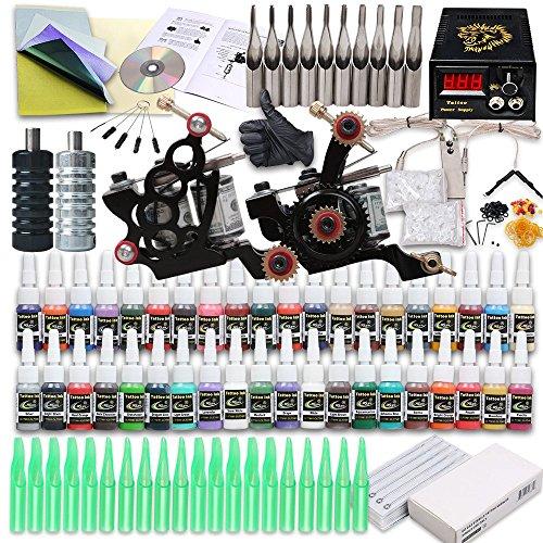 Starter tattoo kit 2 tattoo machine power supply needles for Starter tattoo kits