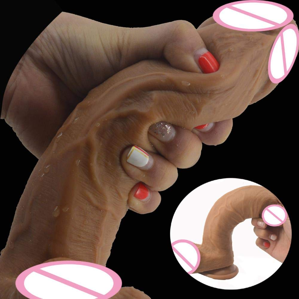 Barette Double Layer Silicone Realistic Dildo Horse Soft Huge Penis Suction 1.93'' Big Dick Sex Toys for Women Masturbate Sex Shop,Russian Federation