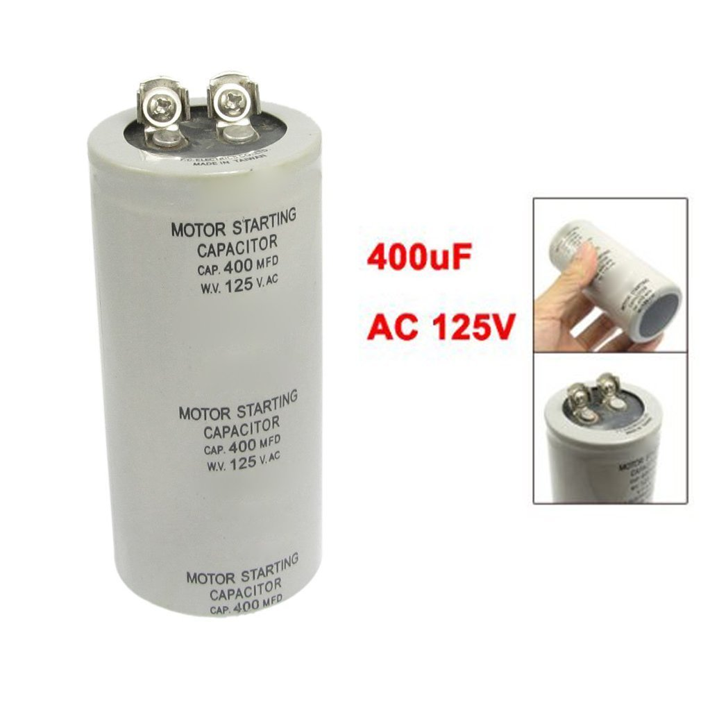 TOOGOO(R) Condensador de funcionamiento de arranque del motor Gris ...