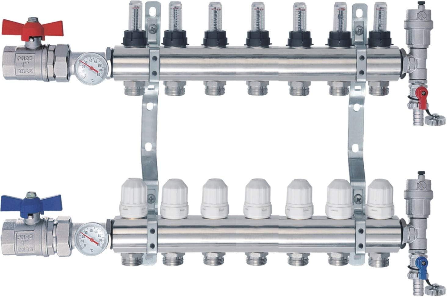 NORDIC TEC R/épartiteur de radiateur Topmeter avec robinet sph/érique