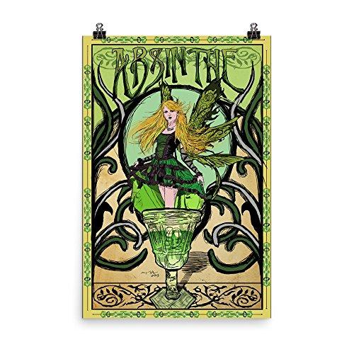 (Vintage poster - Absinthe 1634 - Enhanced Matte Paper Poster (24x36))