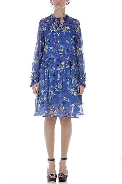 Abito Twin Set Jeans Abito Donna Blu JS82NS L: Amazon.it