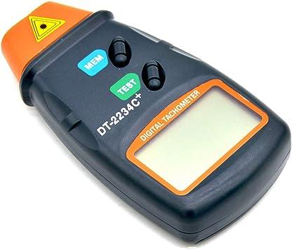 2234C+ Digital Laser Photo Tachometer Non Contact RPM Tach Meter Speed Gauge DT