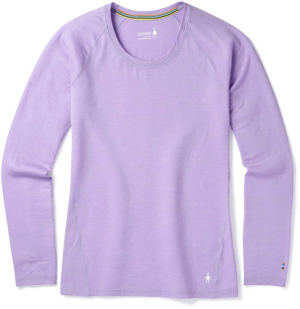 SmartWool Women's Merino 150 Baselayer Pattern Long Sleeve Cascade Purple Medium