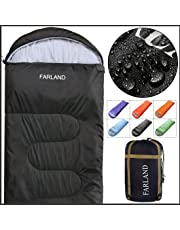 FARLAND Sleeping Bag for Adults Teens Kid with Compression Sack Portable and Lightweight for 3-4 Season Camping, Hiking,Waterproof, Backpacking and Outdoors