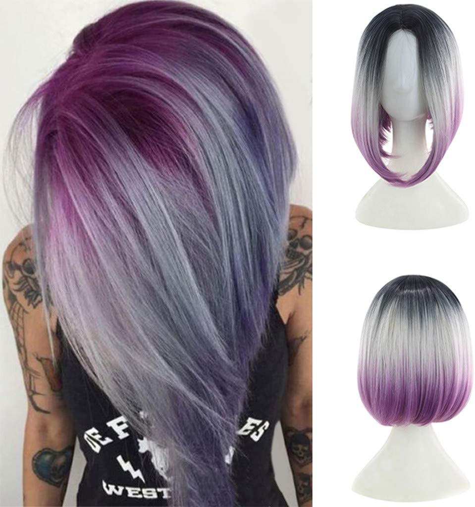 kword peluca mujer, Sintético Breve Tinte Bob Natural cabello ...