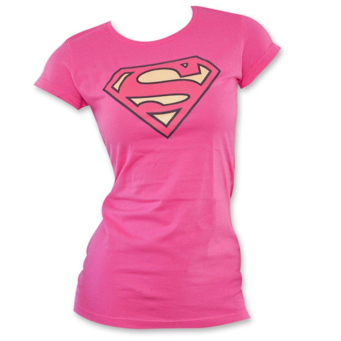 Juniors: DC-Pinky Shield Juniors (Slim) T-Shirt Size M