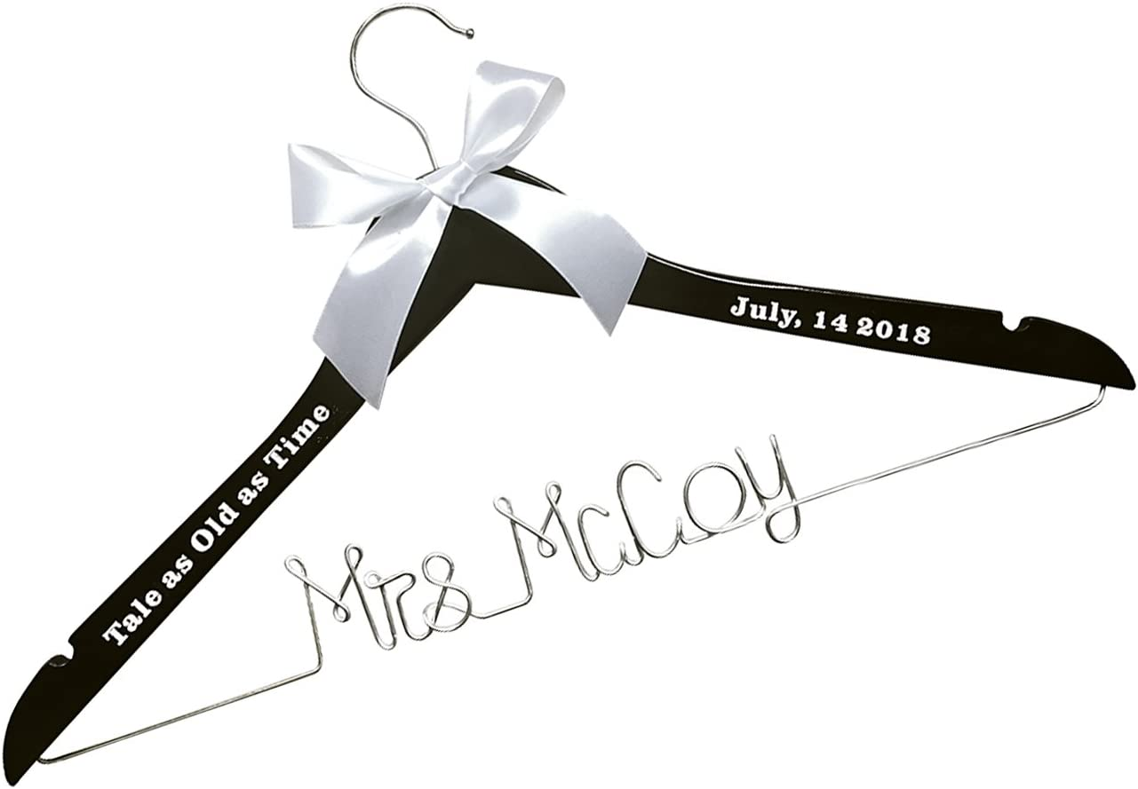 WEDDING Bridesmaid Gift or custom made Coat Hangers White Qty 7 Engraved