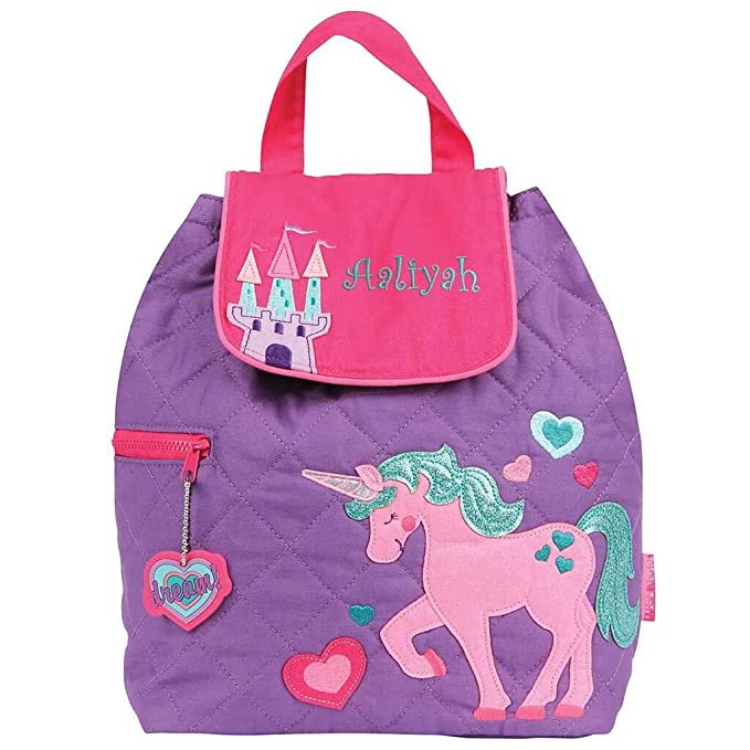 Personalized Quilted Backpack (Unicorn)
