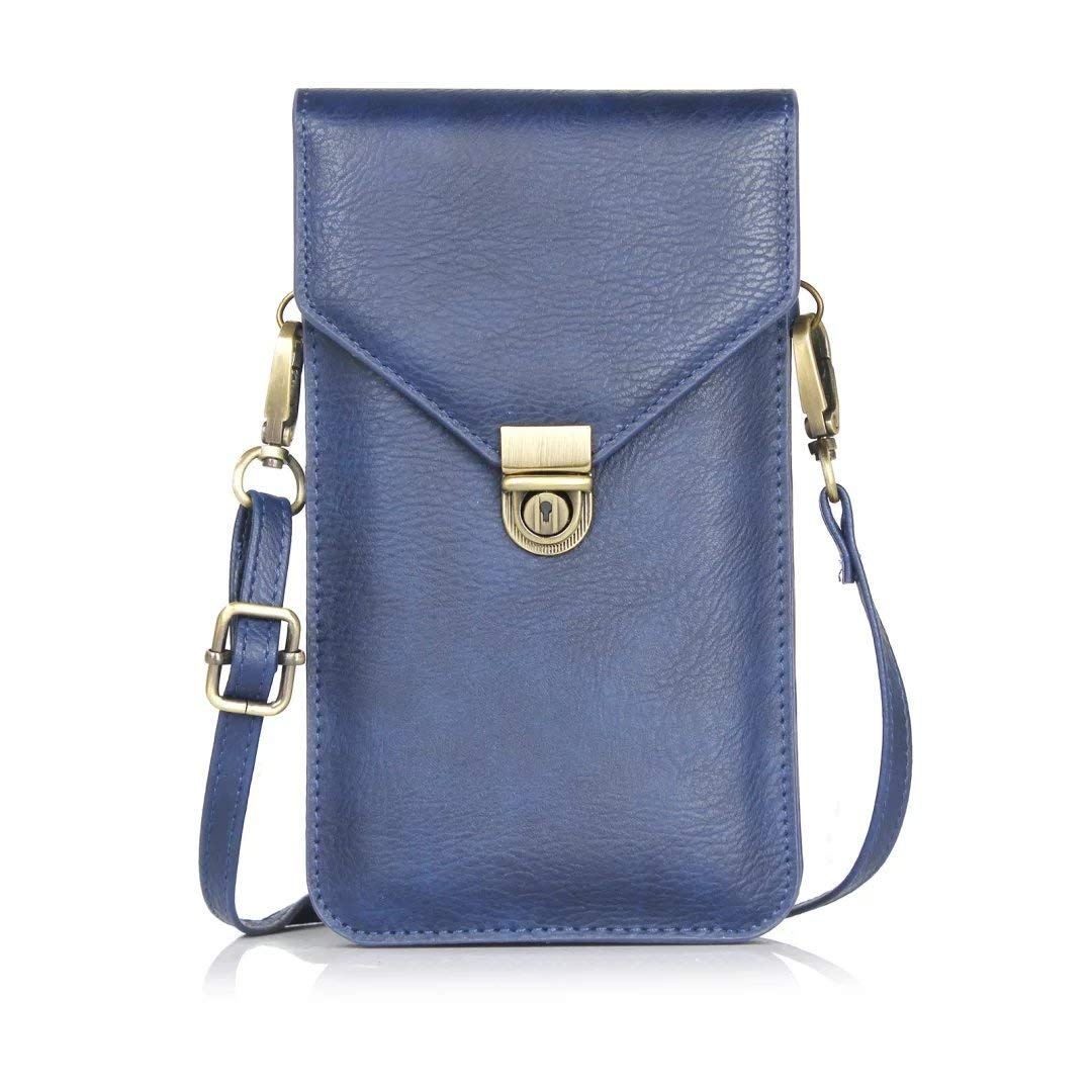 Cell Phone Bag, Crossbody Wallet Pouch Purse Women Folk Style Case Shoulder Strap, Fit Smartphone Up to 6.3'' iPhone X / 8 Plus / 7 / 6s Plus, Samsung Galaxy Note 9/8 / S9 Plus/ S9