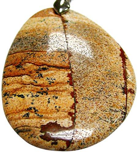 Linpeng SP-17 Picture Jasper Semiprecious Stone ()