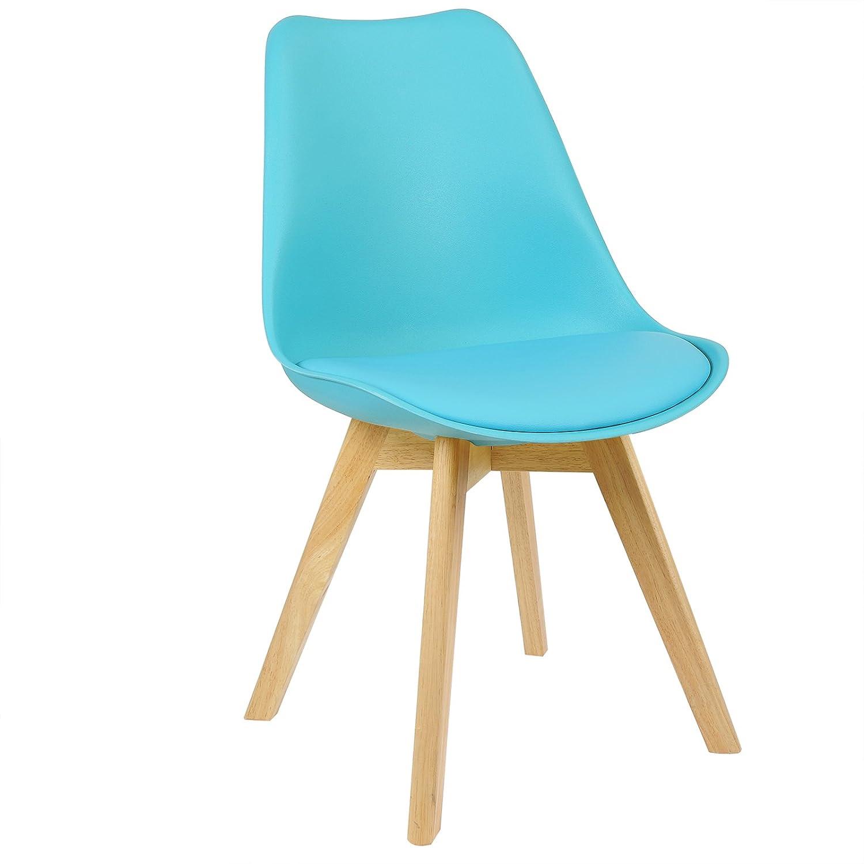 WOLTU® 4er Set Esszimmerstühle Küchenstuhl Design Stuhl Esszimmerstuhl BH29gr-4 Kunstleder Holz Grau BH29gr-4 Esszimmerstuhl 993a02