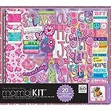 me & my BIG ideas Scrapbooking Kit, Tie Dye Peace Friends, 12-Inch by 12-Inch