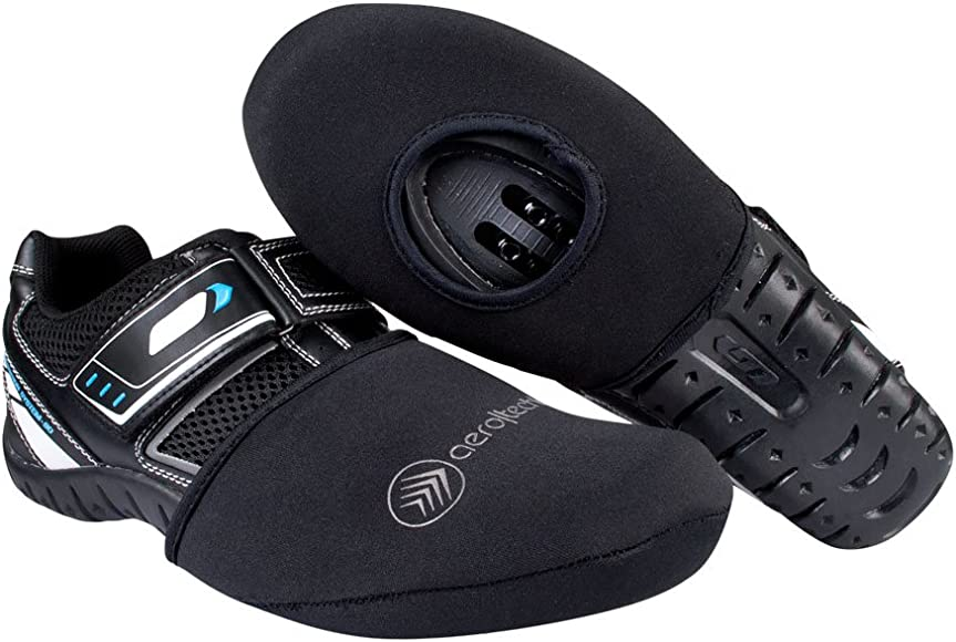 Thermal Neoprene Cycling Shoe Toe Cover with Opening for Biking Cleats