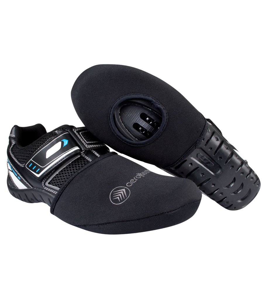 Aero Tech Designs Neoprene Cycling Shoe Toe Cover with Opening for Cleats