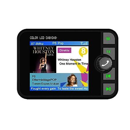 LbojailiAi Radio De Coche Y Accesorios De Coche Adaptador De Radio Digital Dab para Coche De 2,4 Pulgadas Transmisor FM Bluetooth Reproductor De Música MP3: Amazon.es: Coche y moto