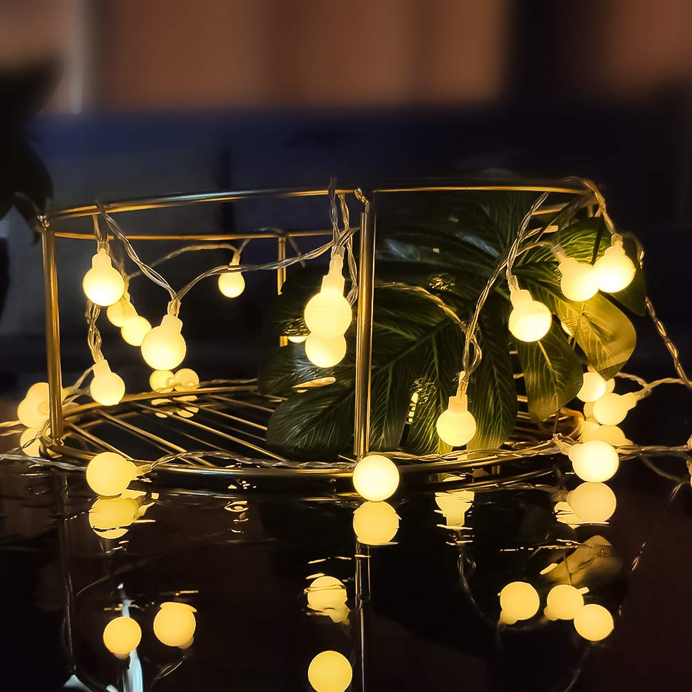 Albero di Natale Matrimonio 8 Modalit/à Telecomando Luce Decorativa Impermeabile IP44 per Giardino Classe di efficienza energetica A 10M 80 LED Ghirlanda Luminosa Esterno Festa Catena Luminosa
