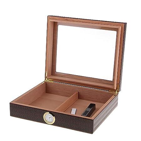 B Baosity 20 Piezas Caja de Cigarros Caja de Almacenamiento de Gran Capacidad para Bodegas de Cigarros de Madera para Cigarros - marrón: Amazon.es: Hogar