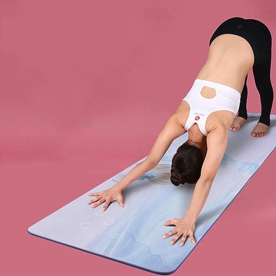 Amazon.com: Alfombrilla de yoga de ante con impresión de ...