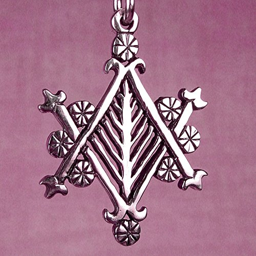 AYIZAN VELEKETE VEVE – Solid Cast Voodoo Lwa Vodou Charm Pendant in Sterling Silver