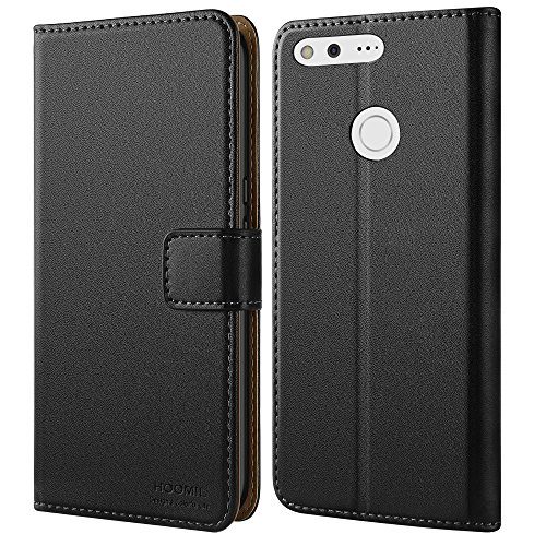 Price comparison product image Google Pixel XL Wallet Case, HOOMIL [Wallet-style] Premium Leather Cover Slim fit Protective Case for Google Pixel XL 2016 (Black)