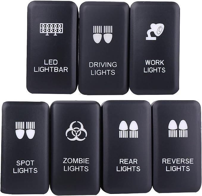 WORK LIGHTS Akozon interrupteur /à bascule de voiture 12V avec LED bleue pour Hilux Landcruiser VIGO Interrupteur /à bascule