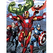 Silk Touch Sherpa Baby Blanket Disney and Marvel Designs 60 x80  (Avengers)