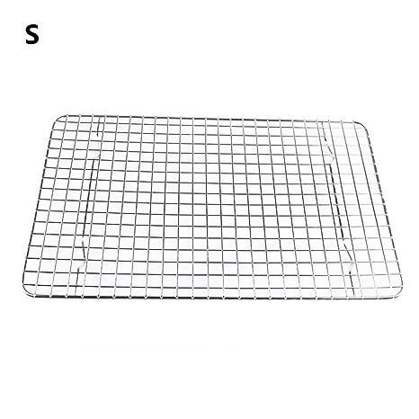 Rejilla de alambre de acero inoxidable para enfriar, rejilla de horno, soporte de secado (plata) small As Picture Show