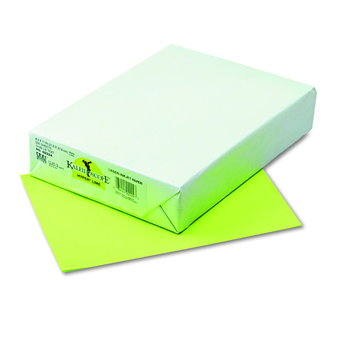 Kaleidoscope Multi-Purpose Paper, 8.5 x 11 Inches, Hyper Lime, 500 Sheets (102224)