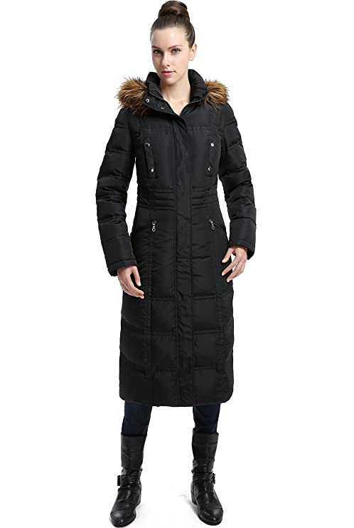 c8cd781a73 Amazon.com: BGSD Women's Lillian Water Resistant Long Down Coat: Clothing