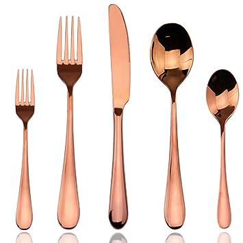 Sistema de la cuchillería, sistema de los cubiertos del oro de Rose, AOOSY servicio