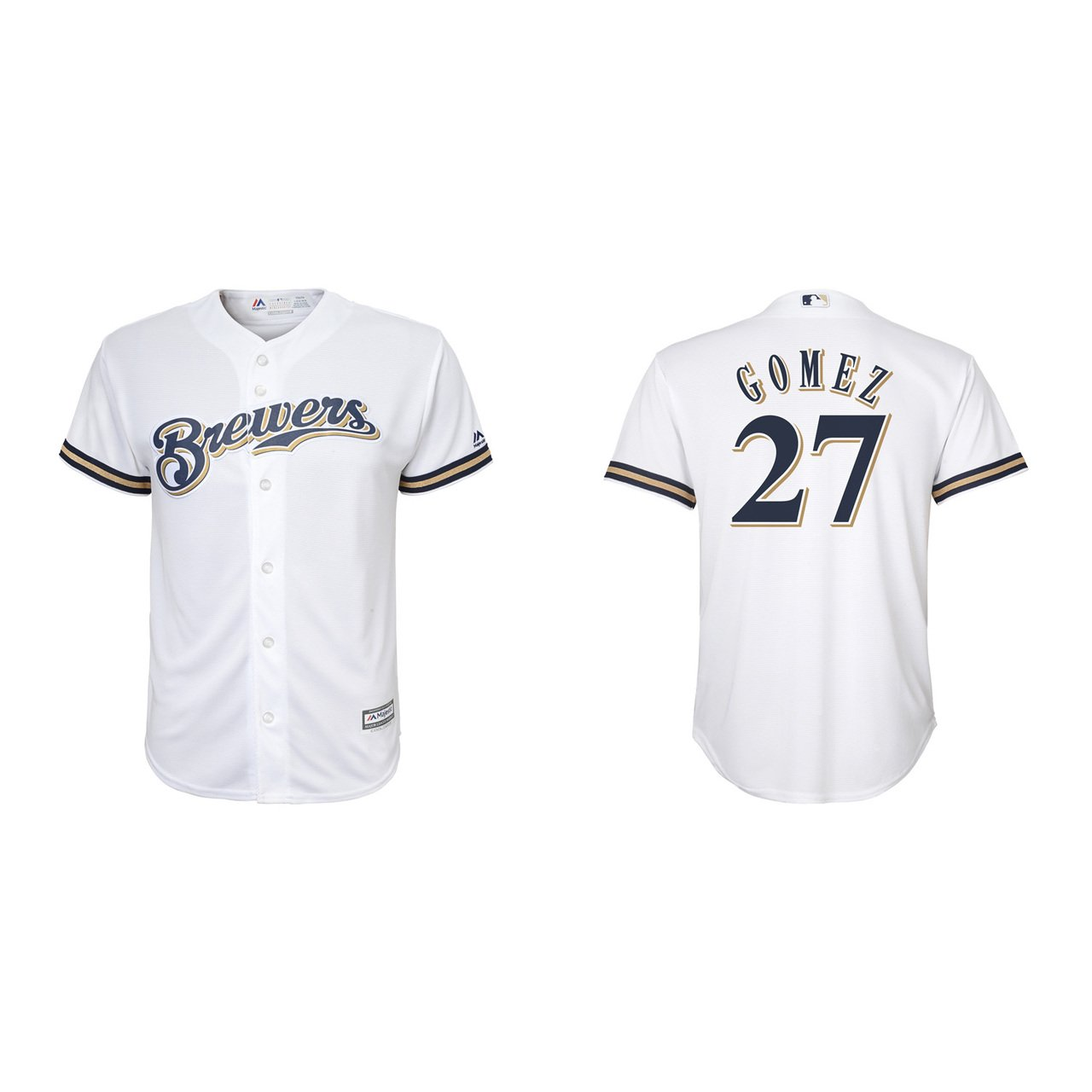 c1acf5117f0 Amazon.com   Majestic Milwaukee Brewers Youth Carlos Gomez Home Replica  Jersey - White  27