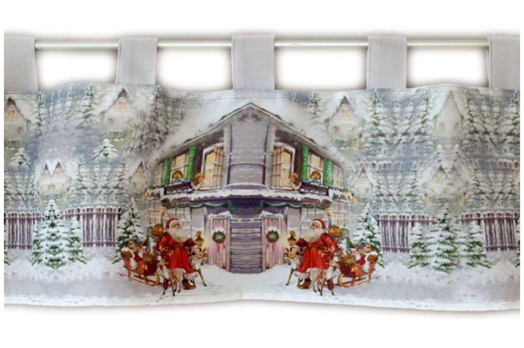 Scheibengardine 30x120 cm WEIHNACHTEN Weihnachtsmann Bistrogardine Gardine Nicht bekannt