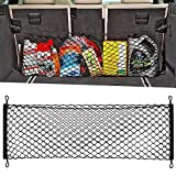 #10: Adjustable Elastic Heavy Duty Cargo Net - Universal Stretchable Truck Net with Hooks | Organizer, Storage, Mesh, Nylon, Bungee | for Car, SUV, Truck, -Black