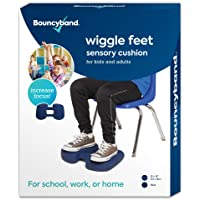 """Wiggle Feet by Bouncyband – Dark Blue, 12""""x15""""x2.5"""" – Foot Fidget Cushion with Dual-Textured Surface, Improves…"""