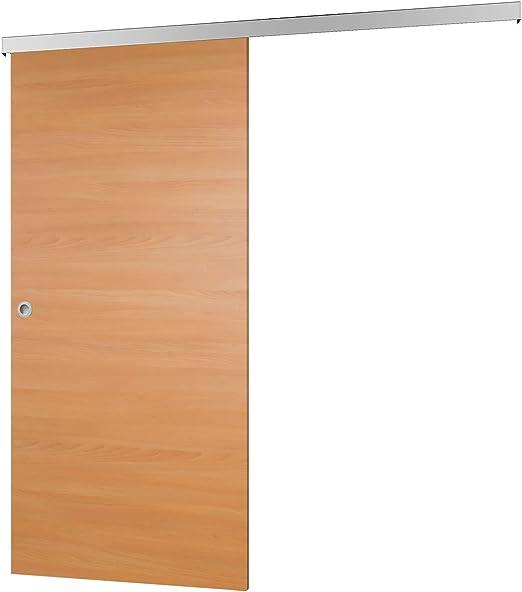 Madera de puerta corredera haya Juego completo con puerta ...