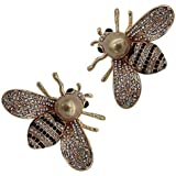 Brooch Pins Bird Bee Broaches Pineapple Dragonfly for Women Girls Enamel Austrian Crystal Animal Insect Brooches Jewelry Collections