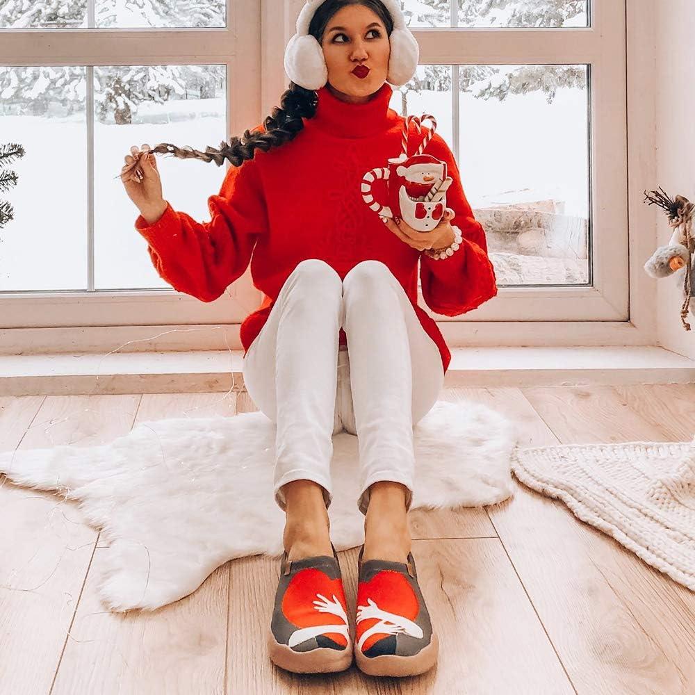 UIN Espadrilles Sneakers Basses Femme Canvas Baskets Peinte Chaussure Mode Plat Originales Voyage Chaussures de D/écontract/ées Sportives de Toiles Fille Chaussures