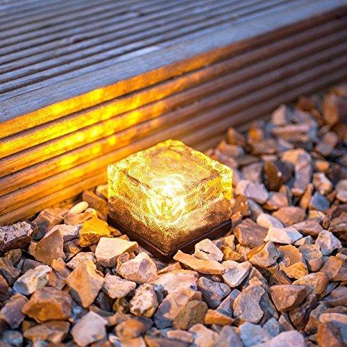 Solar Ice Rocks Ground Light,AMZSTARWaterproof Solar Path...