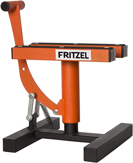 Fritzel Motorrad Hubständer Kleiner Thron Orange Sport Freizeit