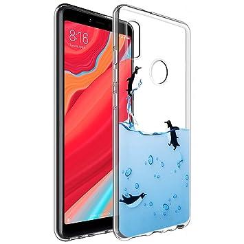 buscar genuino precio bajo código promocional Funda Xiaomi Redmi S2, Eouine Cárcasa Silicona 3D Transparente con Dibujos  Diseño Suave Gel TPU [Antigolpes] de Protector Bumper Case Cover Fundas ...