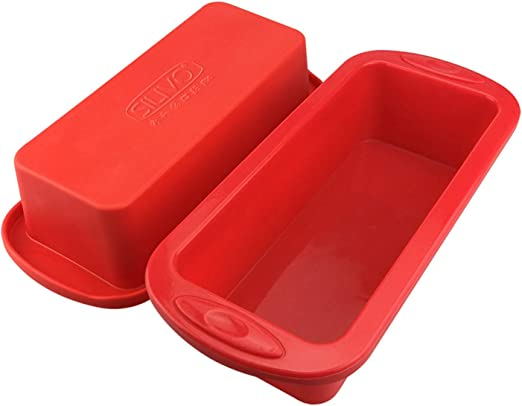 Silicone Bread Pan Mold,Nonstick Silicone Bakeware, Bakeware Non-Stick Loaf Pan,Toast Bread Mold Cake Tray Long Square Cake Mould,for Breads A 225g Cakes