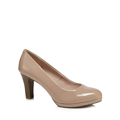 Beige patent 'Gala' high wide fit court shoes buy cheap websites sWP40l