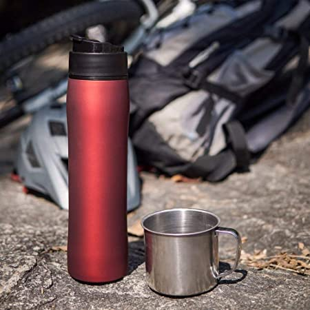 afdd1a3bfbb Andronicas French Press Travel Mug Red Self Lock Portable Coffee Maker  Travel Coffee Mug Tea and