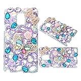 KAKA(TM Samsung Galaxy S7 Cover,3D Handmade Rhinestone Crystal Hard Case For Samsung Galaxy S7 Purple
