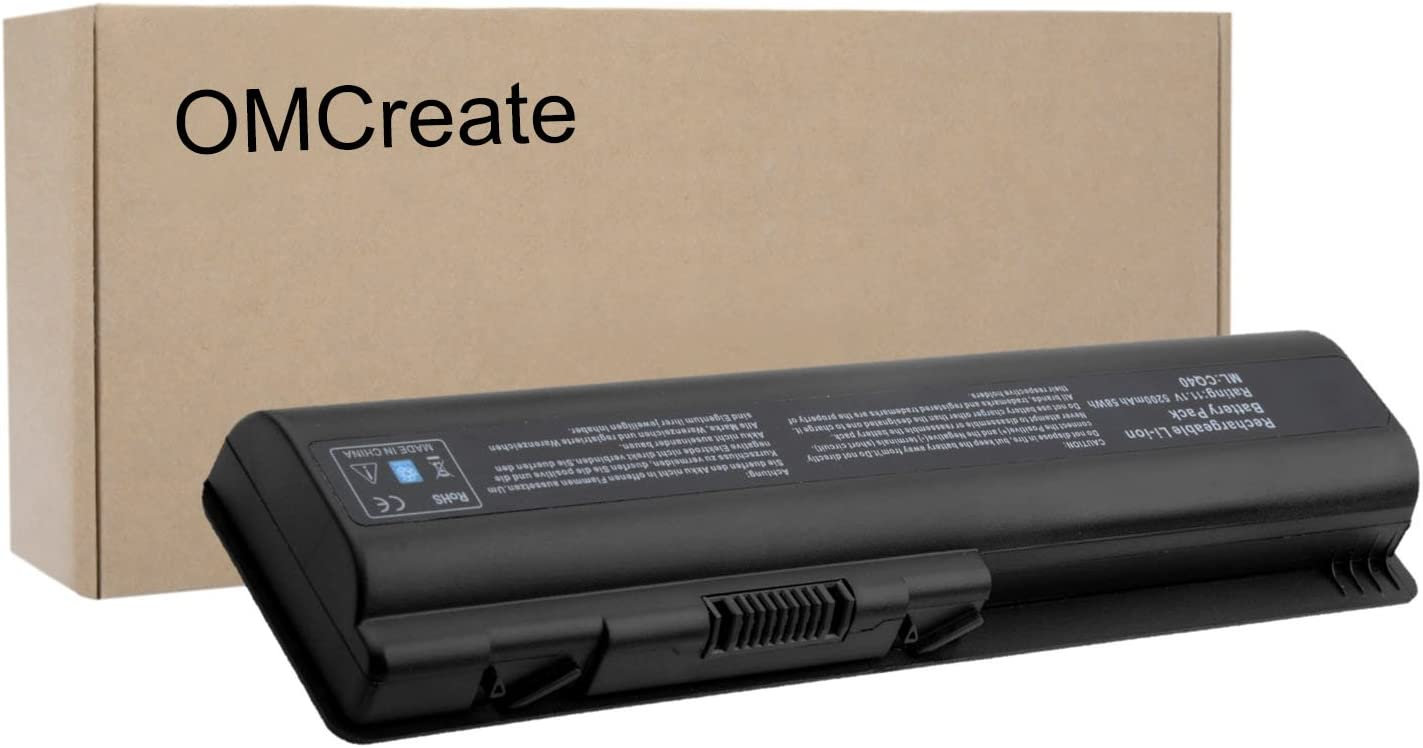 OMCreate Battery Compatible with HP CQ61 CQ40 CQ45 CQ50 CQ60 CQ70, G60 G50 G61 G71, G60-235DX G60-230US G60-120US G71-340US CQ60-615DX, Fits P/N EV06 498482-001 484171-001 497694-001 497694-001